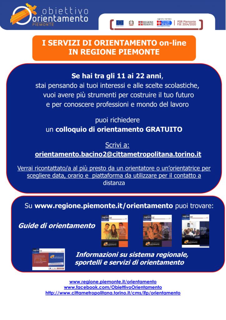 Orientamento Regione Piemonte - ragazzi